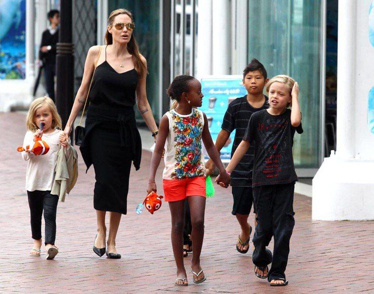 安潔莉娜裘莉對孩子採自由發展的態度,喜歡留什麼髮型、穿什麼衣服都可自行決定。一家...