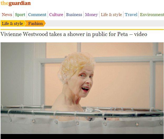 長期關注環保問題的時尚設計師「龐克教母」 Vivienne Westwood,近...