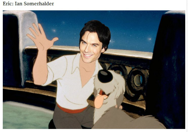 《吸血鬼日記》男主角伊恩桑莫哈德(Ian Somerhalder)則被合成在艾瑞...