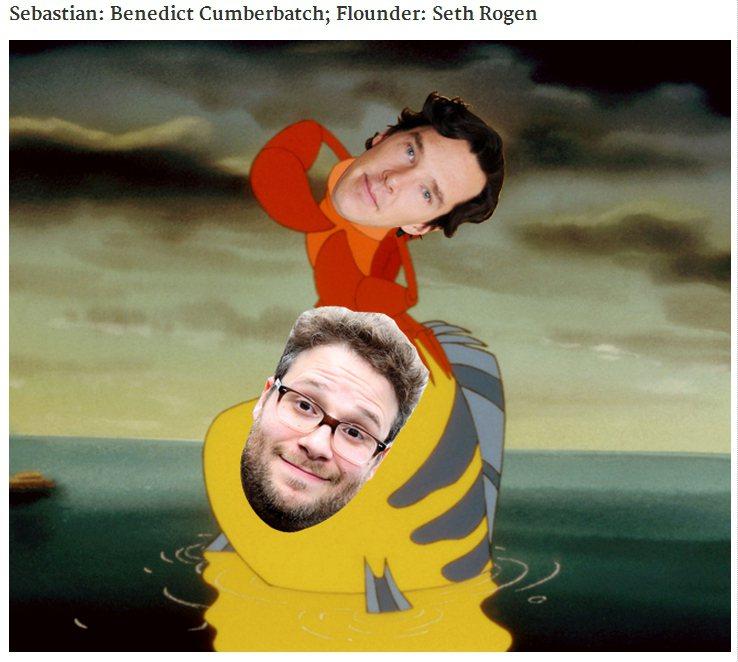善良的螃蟹賽巴斯汀則由英國當紅小生班奈狄克康柏拜區(Benedict Cumbe...