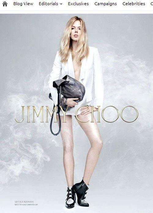 為時尚鞋款品牌 Jimmy Choo 代言多次的妮可基嫚,最近再度入鏡品牌早秋廣...