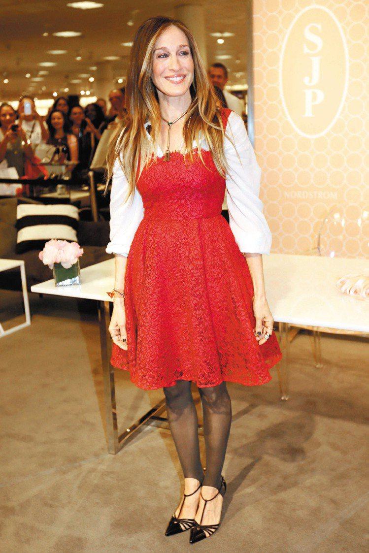 莎拉潔西卡派克於日前出席同名女鞋系列的發表會。圖/達志影像