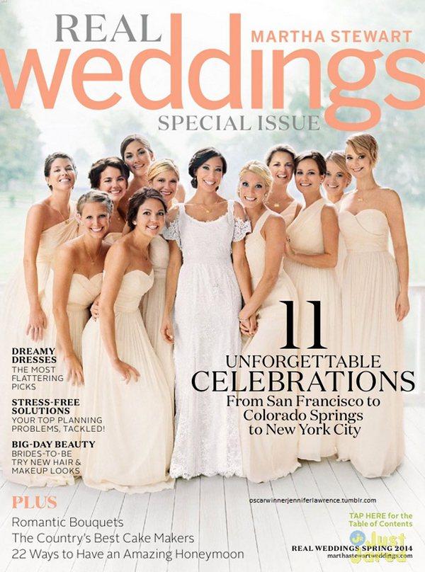 珍妮佛勞倫斯近日現身在最新一期的 Martha Stewart Weddings...