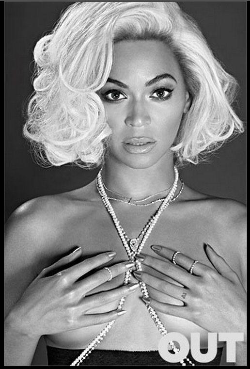 碧昂絲模仿一代性感偶像瑪麗蓮夢露,捨棄了白色深 V 洋裝直接「上空」入鏡。圖/擷...