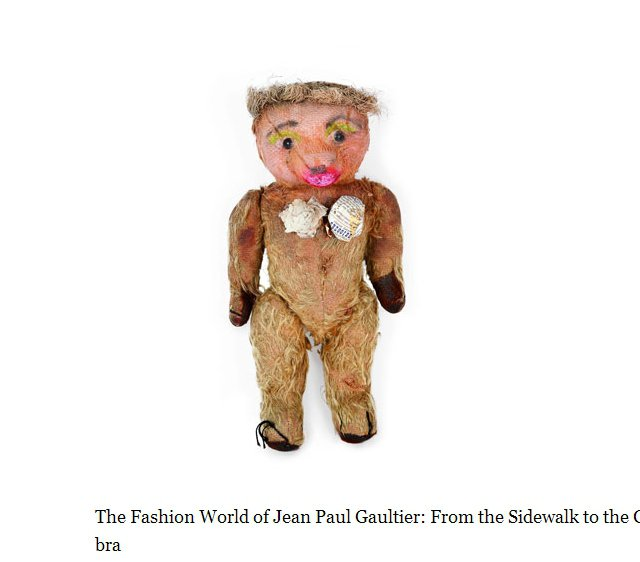 最令 Jean Paul Gaultier 感到驕傲的作品,就是為心愛的泰迪熊N...