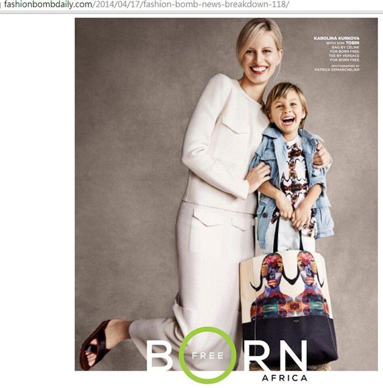 超模 Karolina Kurkova 和兒子 Tobin 為 Born Fr...