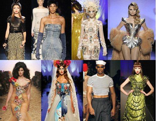 巴黎時尚大師 Jean Paul Gaultier的服裝設計作品。圖/布碌崙美術...