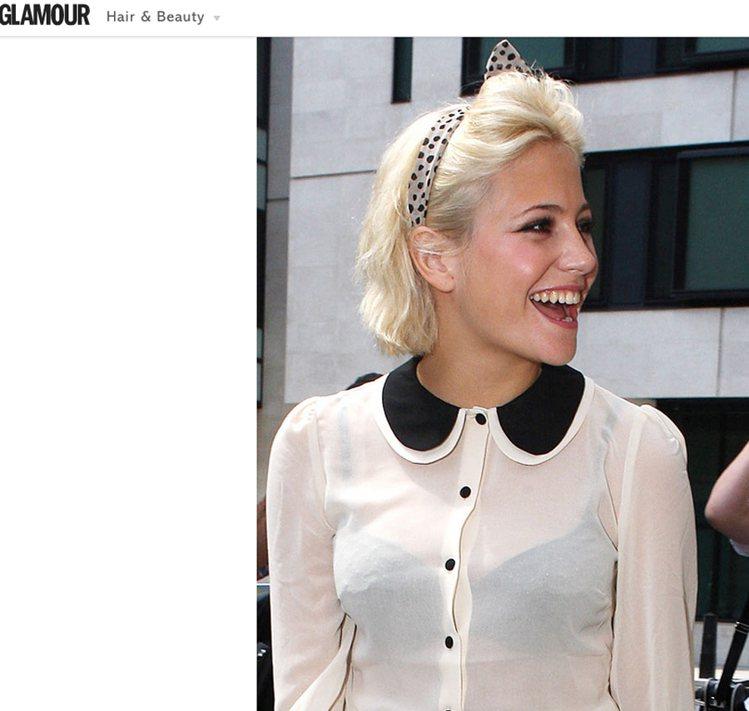 Pixie Lott 的短髮 Look 俏麗又摩登。圖/擷取自glamourma...