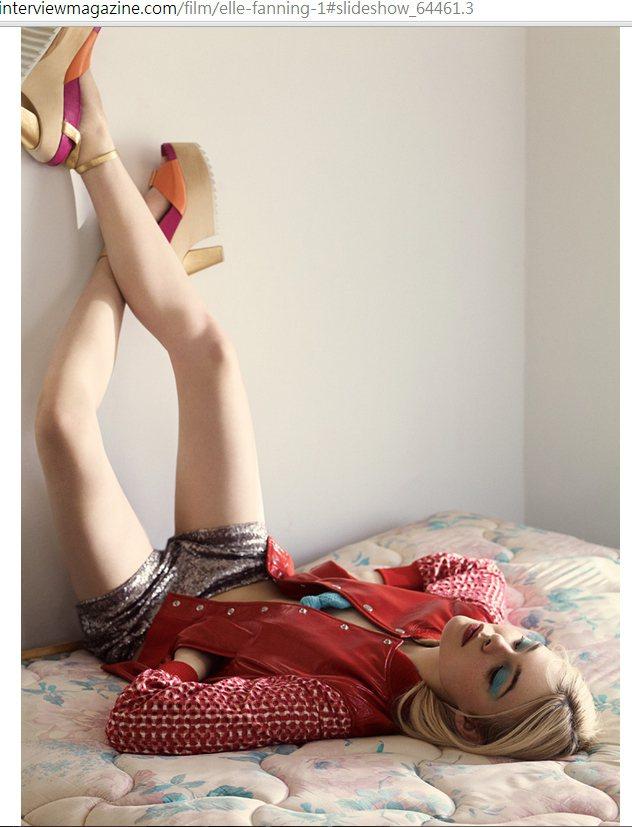 艾兒芬妮(Elle Fanning)日前在 Interview 雜誌拍了一系列時...