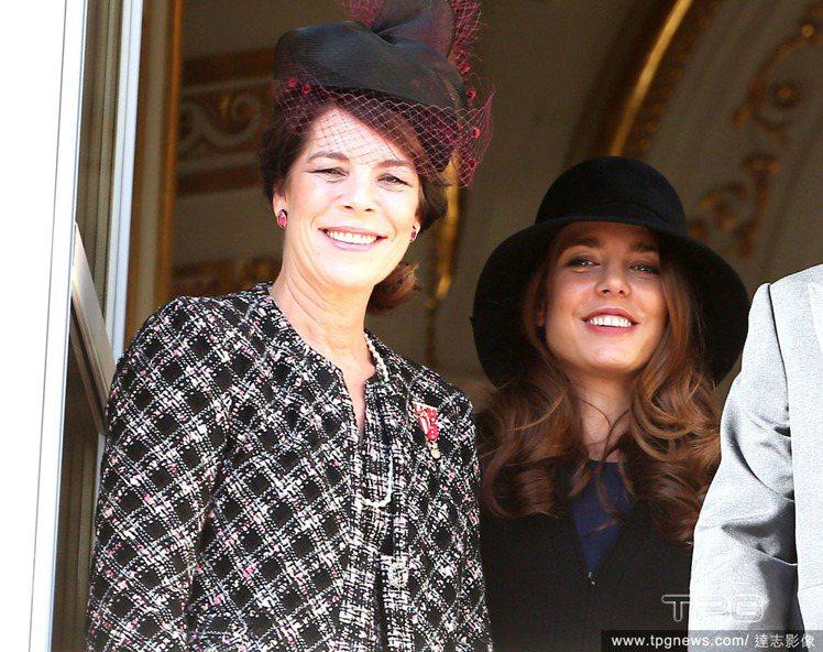 摩納哥王妃葛莉絲凱莉的女兒卡洛琳公主與她的女兒夏洛特卡西拉琪。圖/達志影像