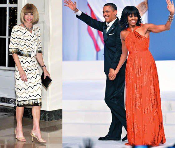 美國總統歐巴馬與夫人蜜雪兒和美版VOGUE總編安娜溫圖素有好交情,安娜將於6/1...