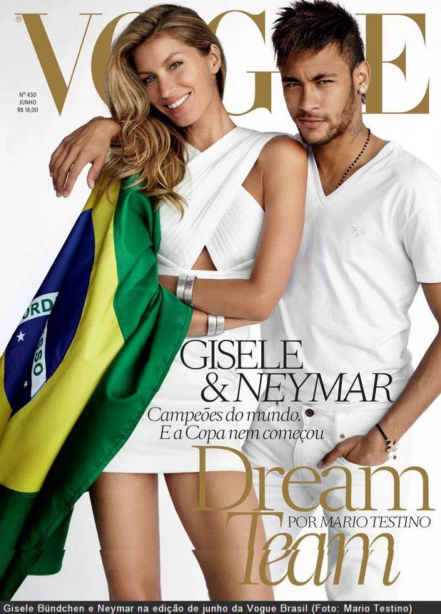 巴西超模吉賽兒邦臣(Gisele Bundchen)與足球明星內馬爾(Neyma...