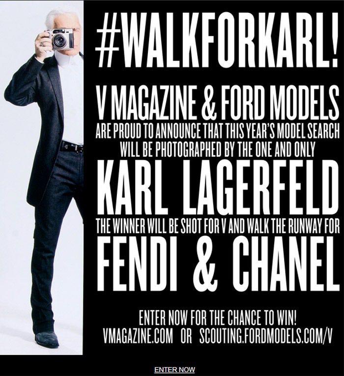 V magazine 舉辦的模特兒選拔賽,贏的人將能獲得協辦單位 FORD 模特...