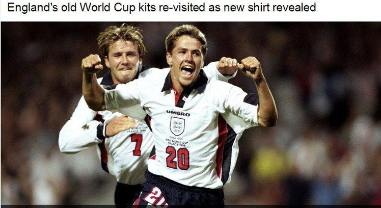 1994年的歐文與貝克漢。圖/擷取自bbc.com