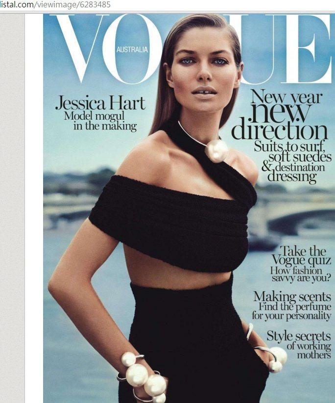 在雪梨出生的Jessica Hart 14 歲就踏入模特兒圈,2000 年時贏...