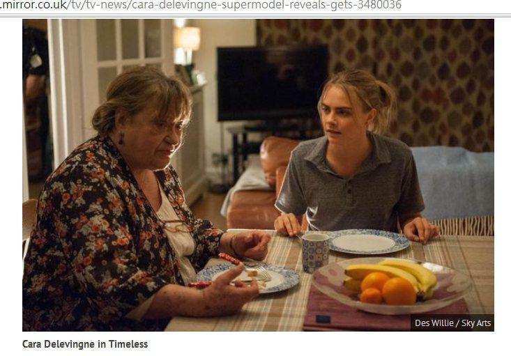 卡拉迪樂芬妮在新戲《Timeless》裡現身,與英國老牌演員 Sylvia Si...
