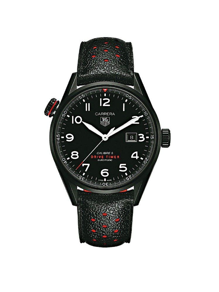 豪雅表邀C羅代言廣告,主打Carrera系列高級腕表,圖為「Drive Time...
