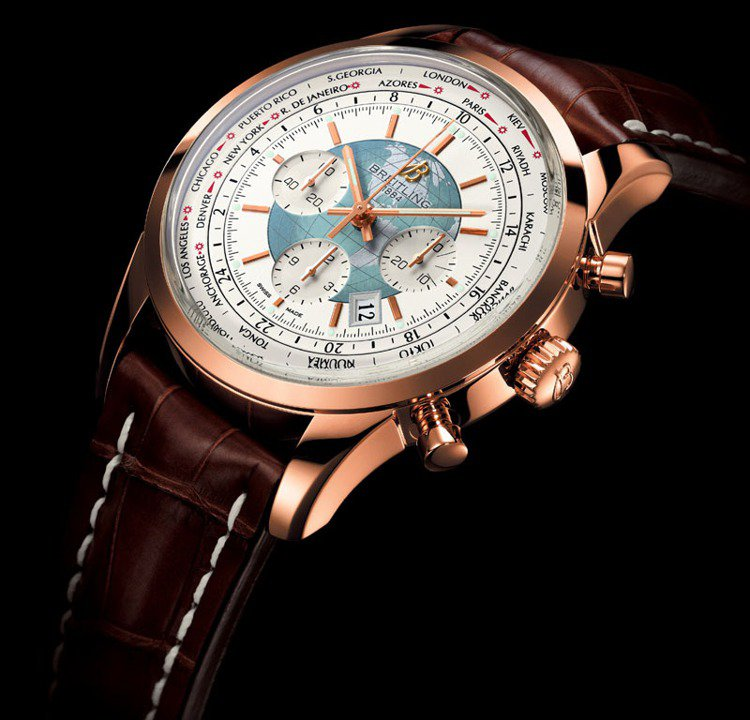百年靈Transocean Chronograph Unitime腕表,世界時區...