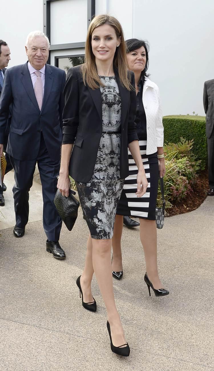 曾是職場女強人的蕾蒂希亞皇后,常穿HUGO BOSS女裝。圖/歐新社