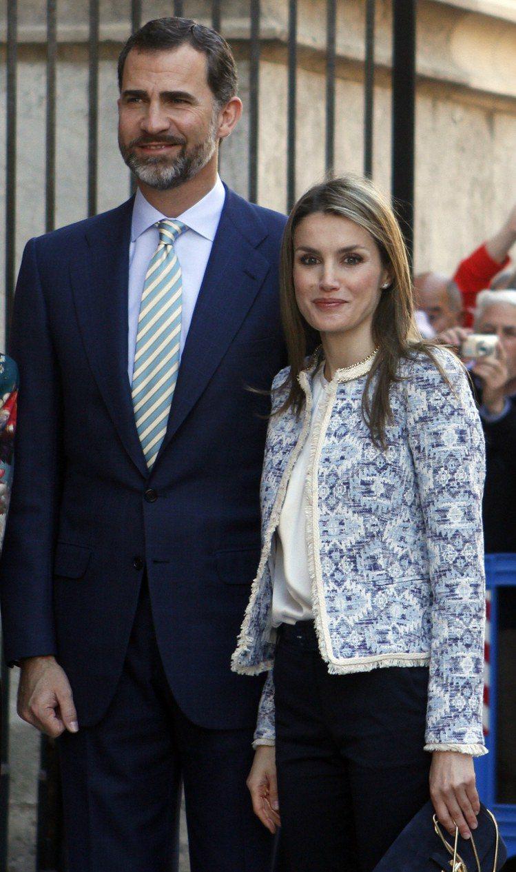 蕾蒂希亞常穿西班牙MANGO平價服飾。圖/路透