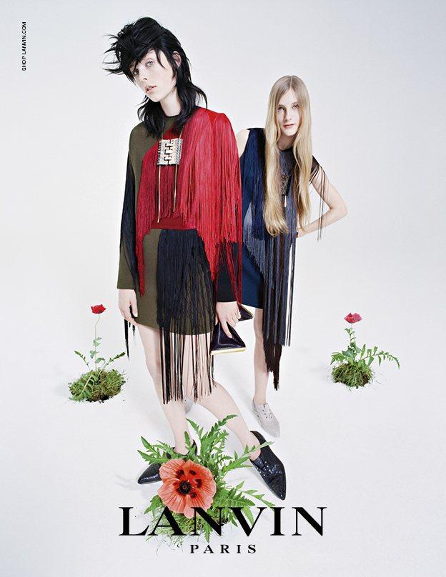 Lanvin 拍攝 2014 秋冬廣告,請來超模 Edie Campbell 與...