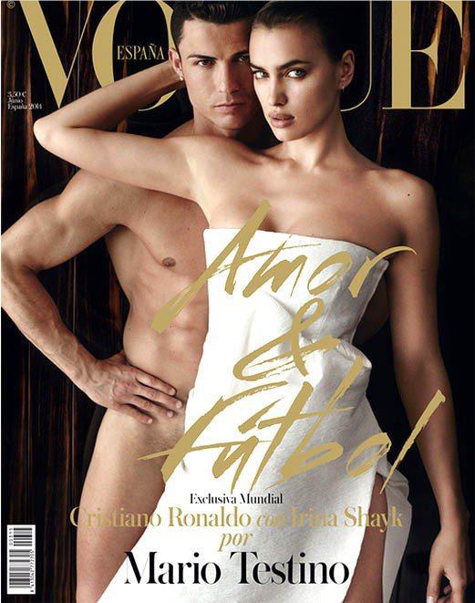 C羅與Irina Shayk前陣子一起登上西班牙VOGUE封面。圖/擷取自VOG...