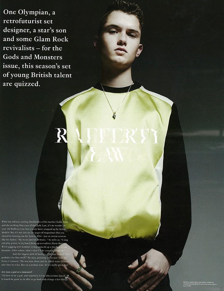 Rafferty Law 今年進軍模特兒界。圖/擷取自models.com