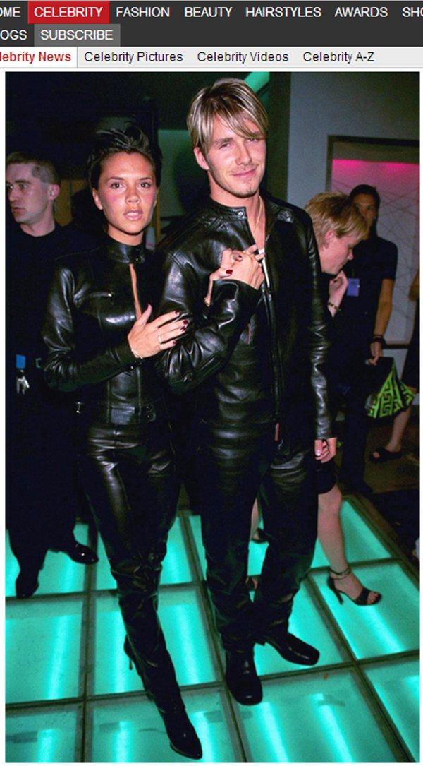 早在 1999 年, 貝克漢和貝嫂維多利亞就以一身黑皮衣、黑皮褲為兩人的情侶裝 ...