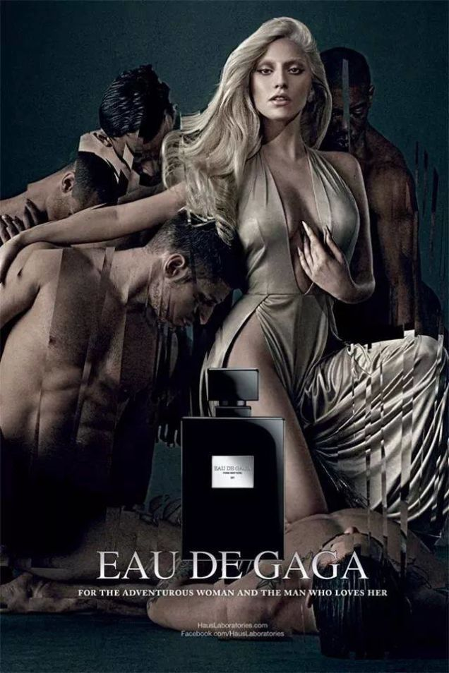 女神卡卡推出第二支香水「Eau de Gaga」,廣告延續她上一支「fame」女...