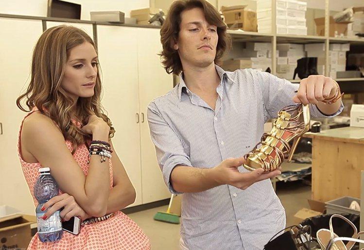 時尚名媛奧莉薇亞巴勒莫(Olivia Palermo)與義大利女鞋品牌 Aqua...