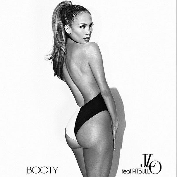 珍妮佛洛佩茲在新曝光的單曲「Booty」宣傳照中幾近背部全裸上陣,凹凸有致的曼妙...