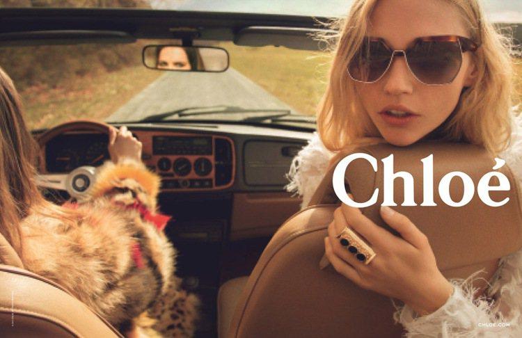 Chloé全新秋冬廣告邀請到Sasha Pivovarova擔綱廣告女主角。圖;...