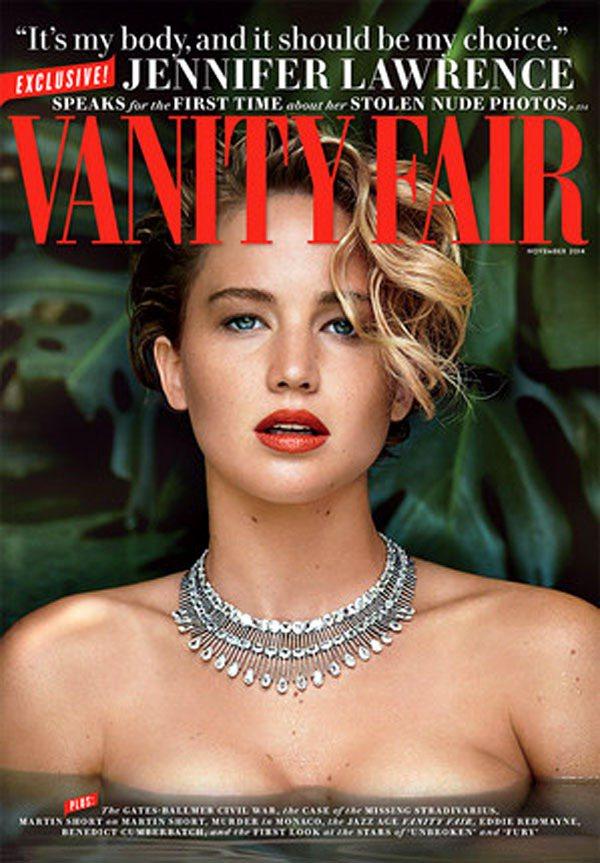 珍妮佛勞倫斯近日登上《浮華世界》11月封面,以半裸姿態搭配鑽石項鍊華麗演繹野性之...