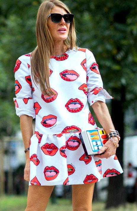 Anna dello Russo的壽司盒手拿包造型有趣。圖/達志影像