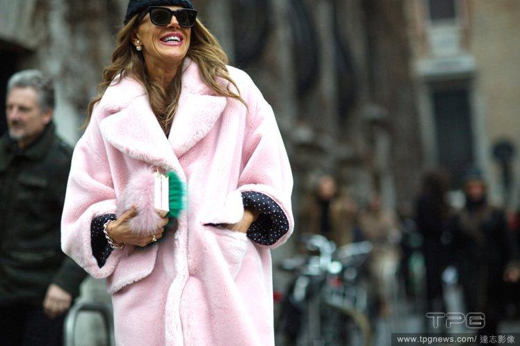 Anna dello Russo 很享受用包款呼應整體造型的完整度。她拎著CHA...