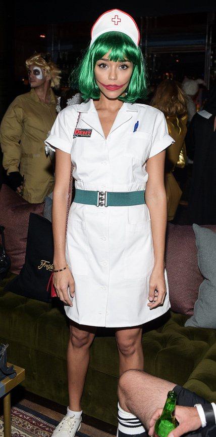 英國女星Ashley Madekwe裝Joker版鬼護士。圖/摘自instagr...