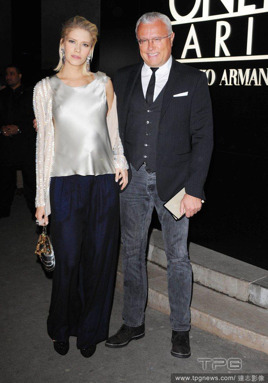 Elena Perminova 與老公 Alexander Lebedev 出席...