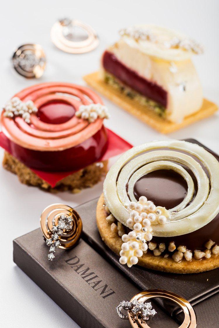 晶華酒店獨家推出蘇菲亞羅蘭系列專屬珠寶甜點。圖/DAMINAI提供