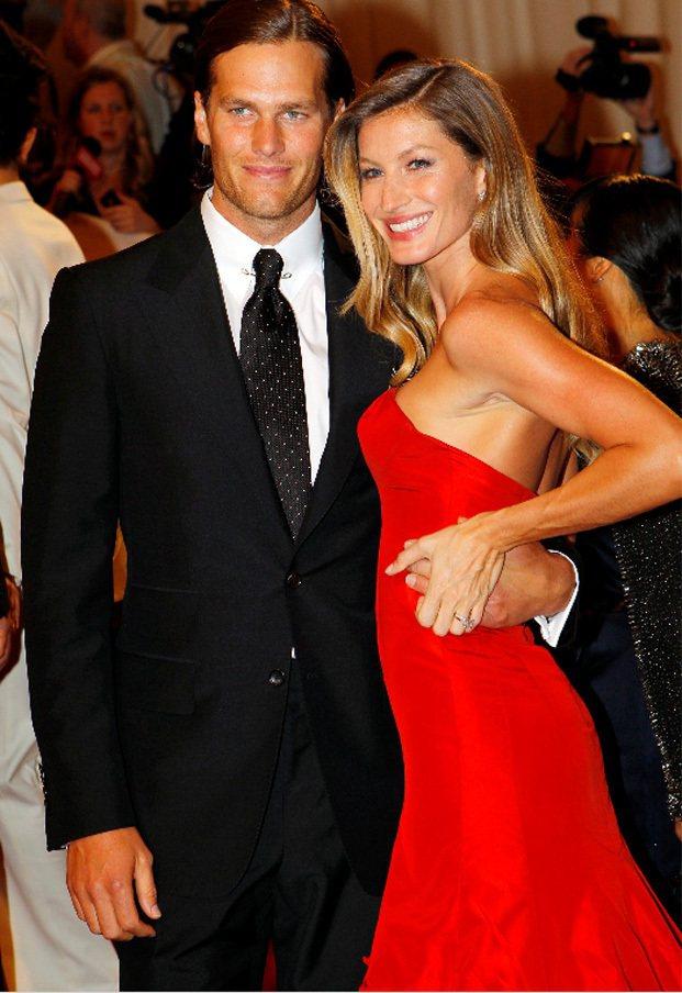 吉賽兒與丈夫湯姆布雷迪。圖/路透