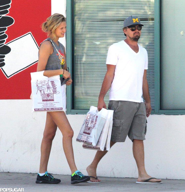 李奧納多和現任女友 Toni Garrn。圖/擷自popsugar