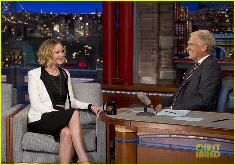 珍妮佛勞倫斯日前上美國《大衛深夜秀》(The Late Show with Da...