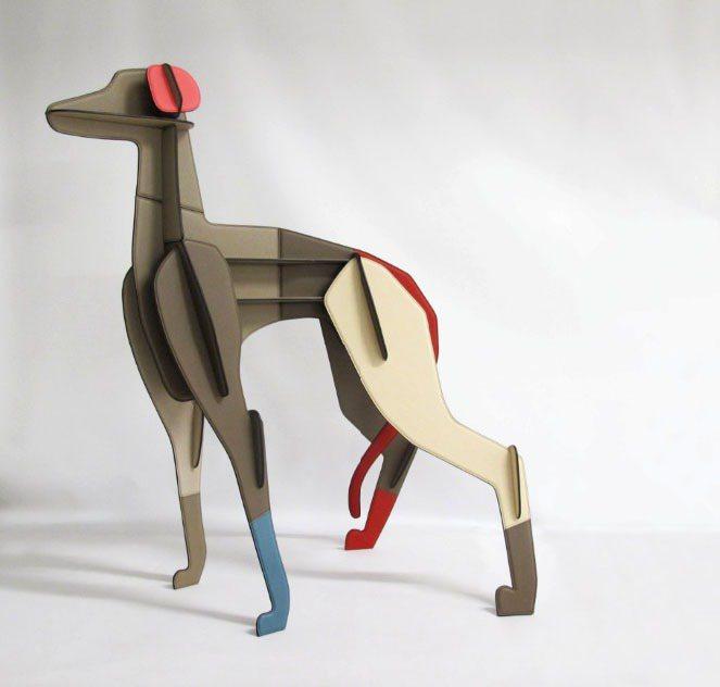 愛馬仕 petit h 特殊展品,皮革獵犬雕塑, 1,535,900元。圖/愛馬...