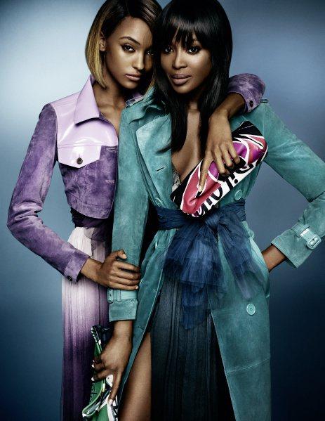 Burberry春季廣告邀「黑美人」姊妹花入鏡,展現力與美。圖/Burberry...
