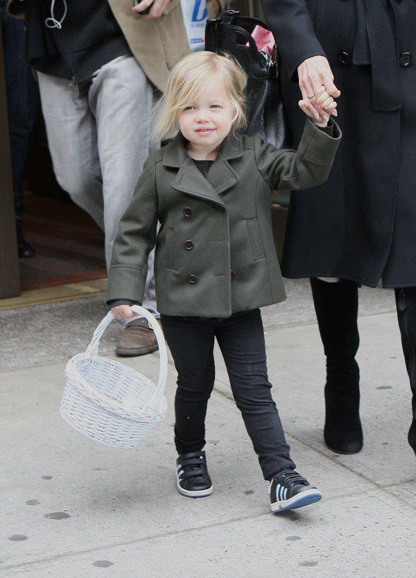 約莫四歲起,Shiloh 慢慢開始喜歡穿得比較帥氣。圖/達志影像