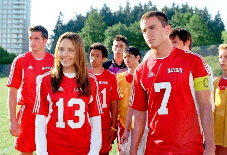 《足球尤物》中的查寧坦圖比現在青澀許多。圖/福斯、達志影像