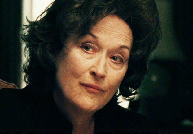 梅莉史翠普幾近素顏入鏡《八月心風暴》。圖/擷自grolschfilmworks