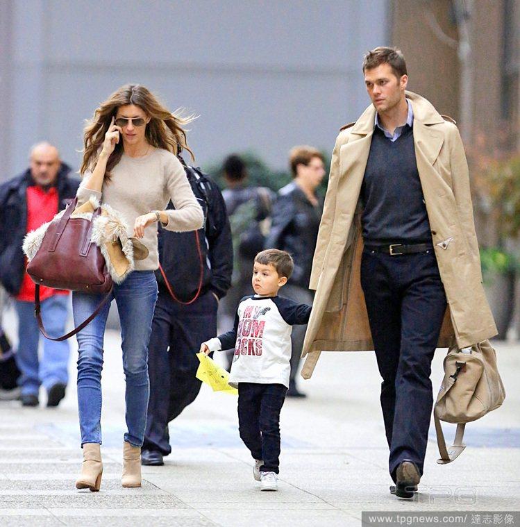吉賽兒邦臣和Tom Brady育有一子一女。圖/達志影像