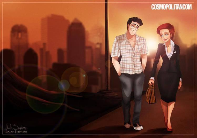 艾麗兒將一頭紅髮剪短、穿上套裝,變身《慾望城市》的米蘭達。艾瑞克王子飾演米蘭達的...