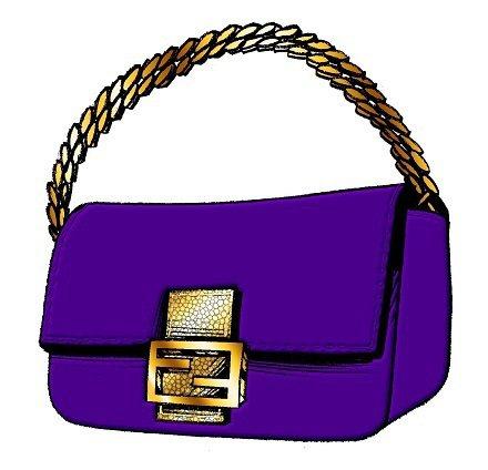 莎拉潔西卡派克設計的Fendi包,以紫色為主色調。圖/Fendi提供