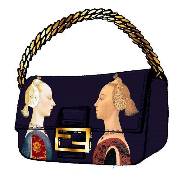 女星 Rachel Feinstein 設計的Fendi包,充滿藝術氣息。圖/F...